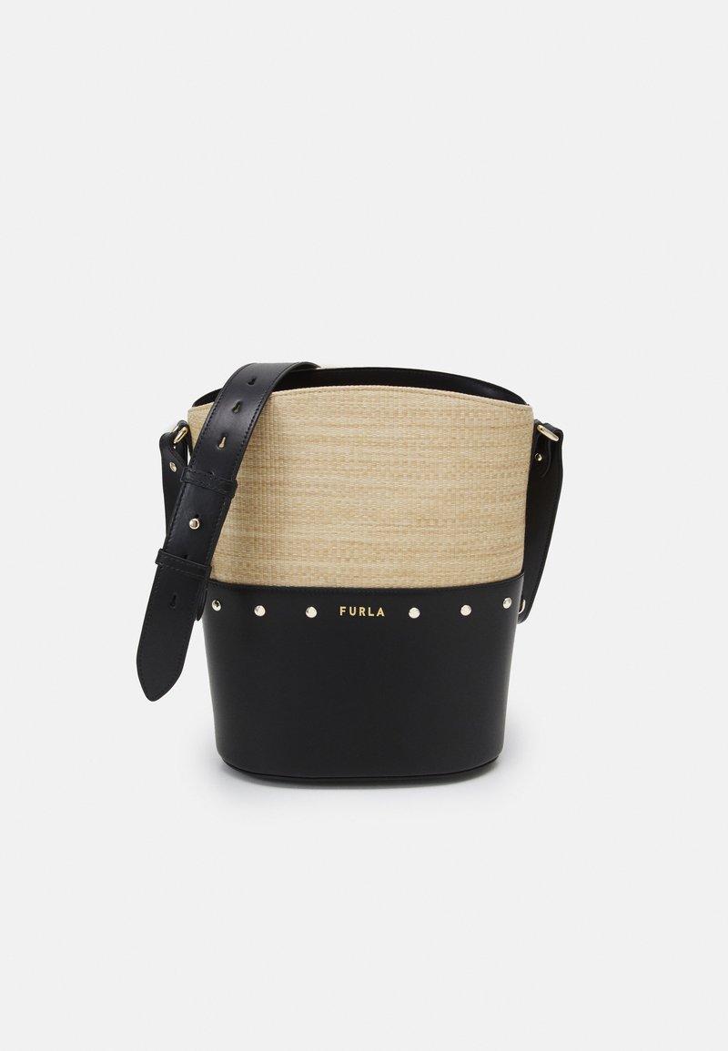 Furla - SHARE BUCKET BAG - Bolso de mano - deserto/nero