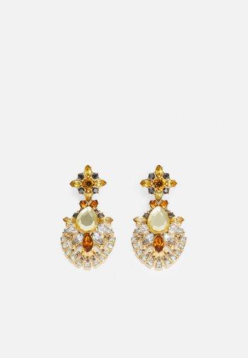 PCZARAH EARRINGS - Earrings - gold-coloured/yellow/clear