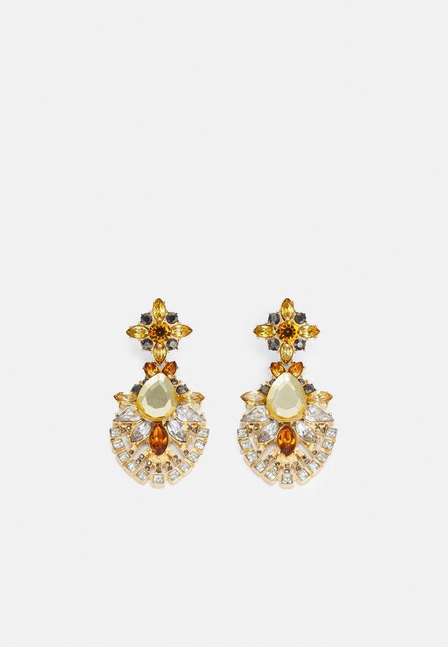 PCZARAH EARRINGS - Boucles d'oreilles - gold-coloured/yellow/clear