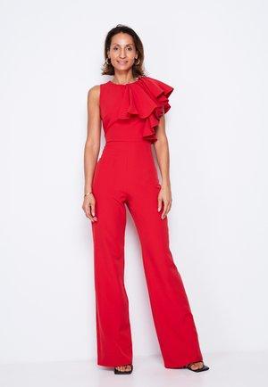 FRILL SHOULDER  - Jumpsuit - red