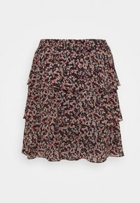 MICHAEL Michael Kors - DAINT BLOOM TIER SKT - Mini skirt - dark ruby - 1