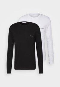 Calvin Klein - LONG SLEEVE LOGO 2 PACK - Top sdlouhým rukávem - black/white - 0