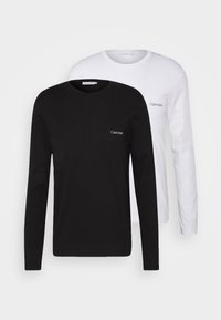 Calvin Klein - LONG SLEEVE LOGO 2 PACK - T-shirt à manches longues - black/white - 0