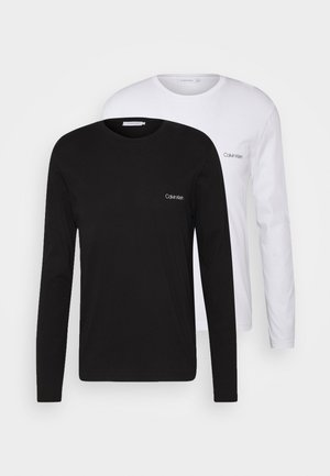 LONG SLEEVE LOGO 2 PACK - T-shirt à manches longues - black/white