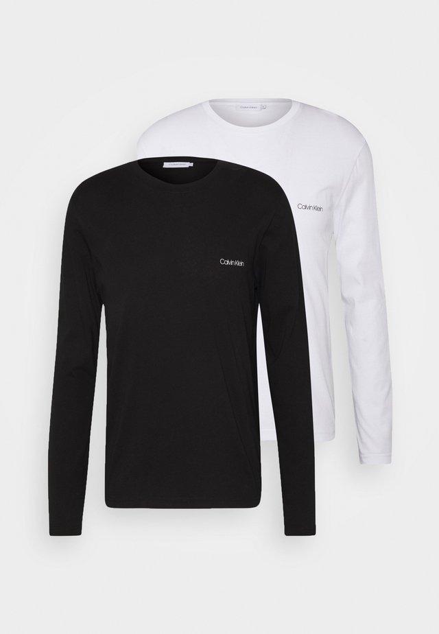 LONG SLEEVE LOGO 2 PACK - Topper langermet - black/white