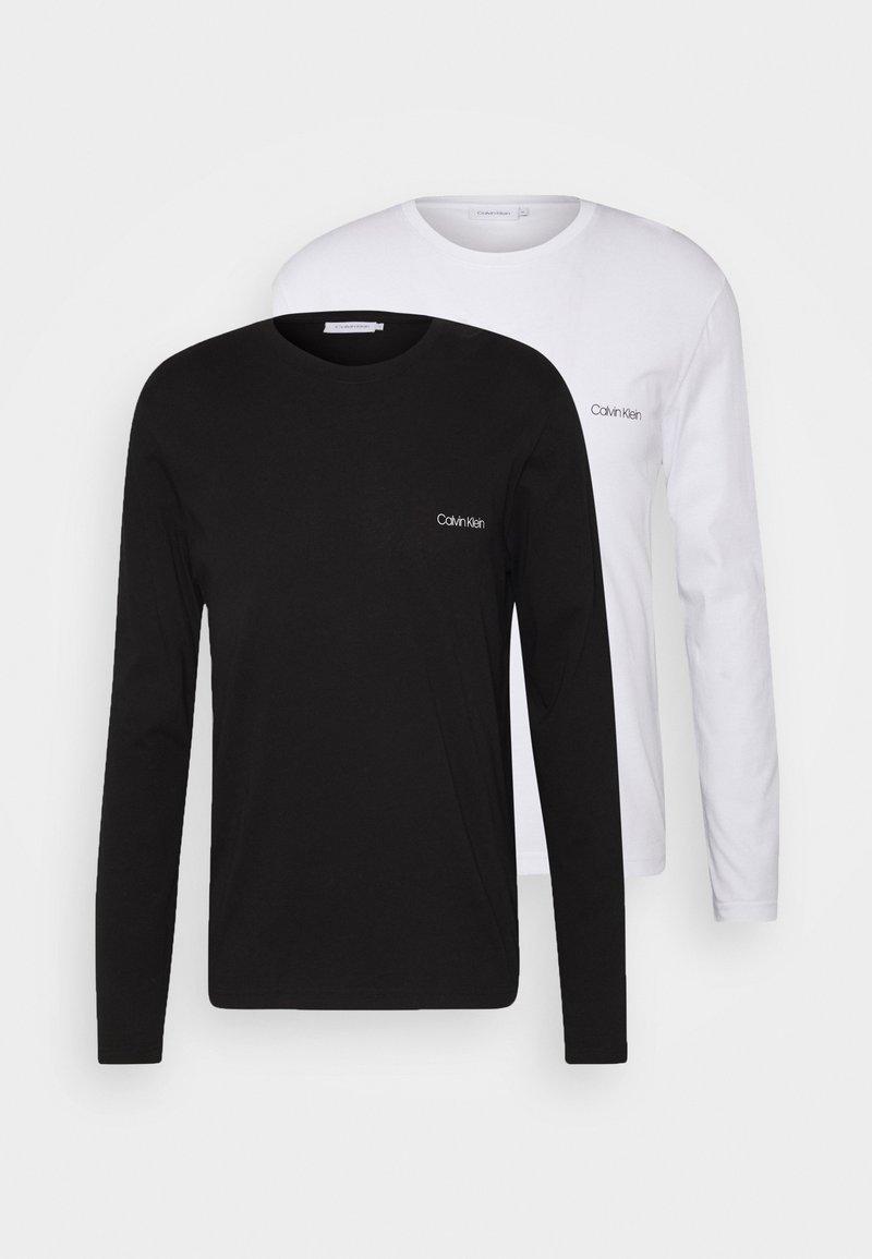 Calvin Klein - LONG SLEEVE LOGO 2 PACK - T-shirt à manches longues - black/white