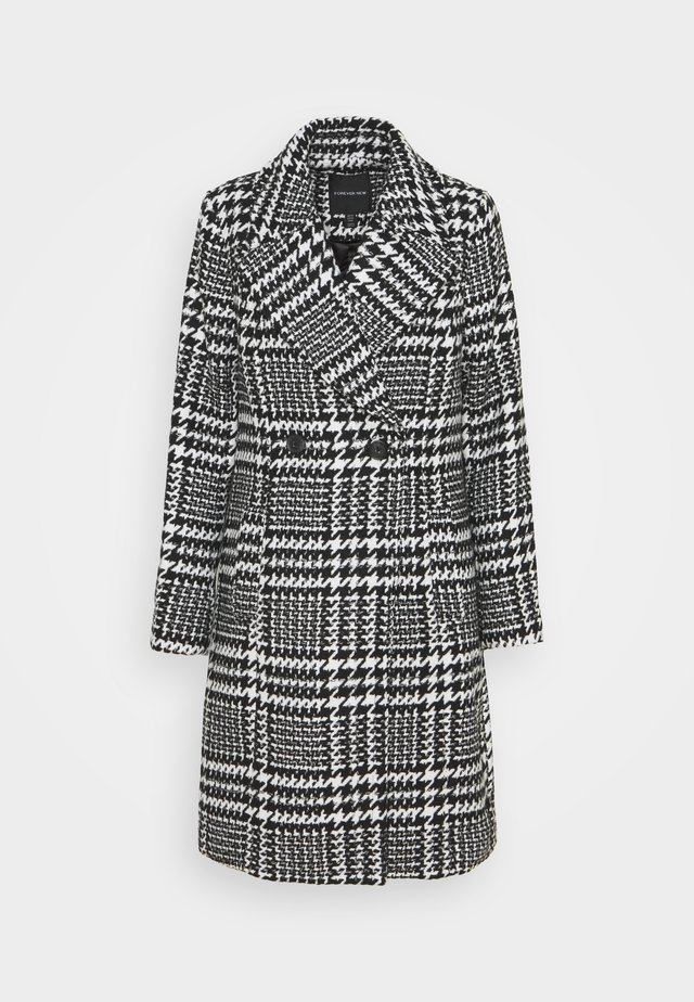 JILLIAN HOUNDSTOOTH COAT - Villakangastakki - black & white