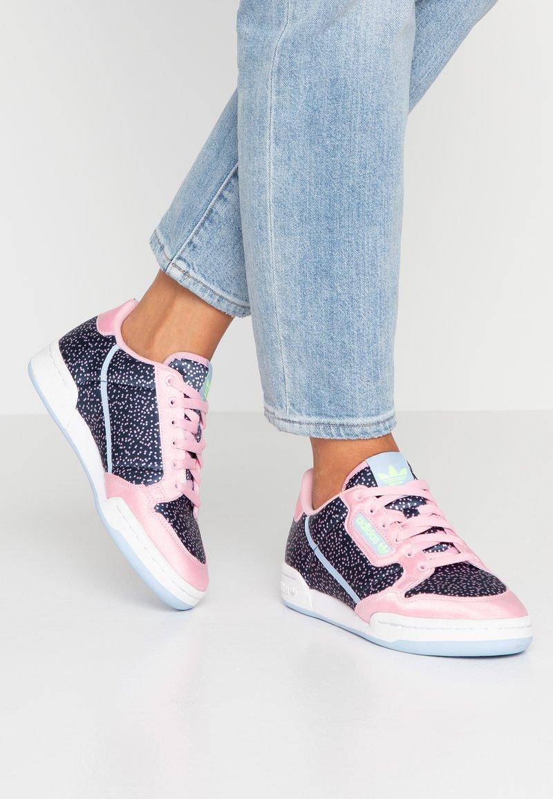 adidas Originals - CONTINENTAL 80 - Sneakers laag - true pink/collegiate navy/glow blue