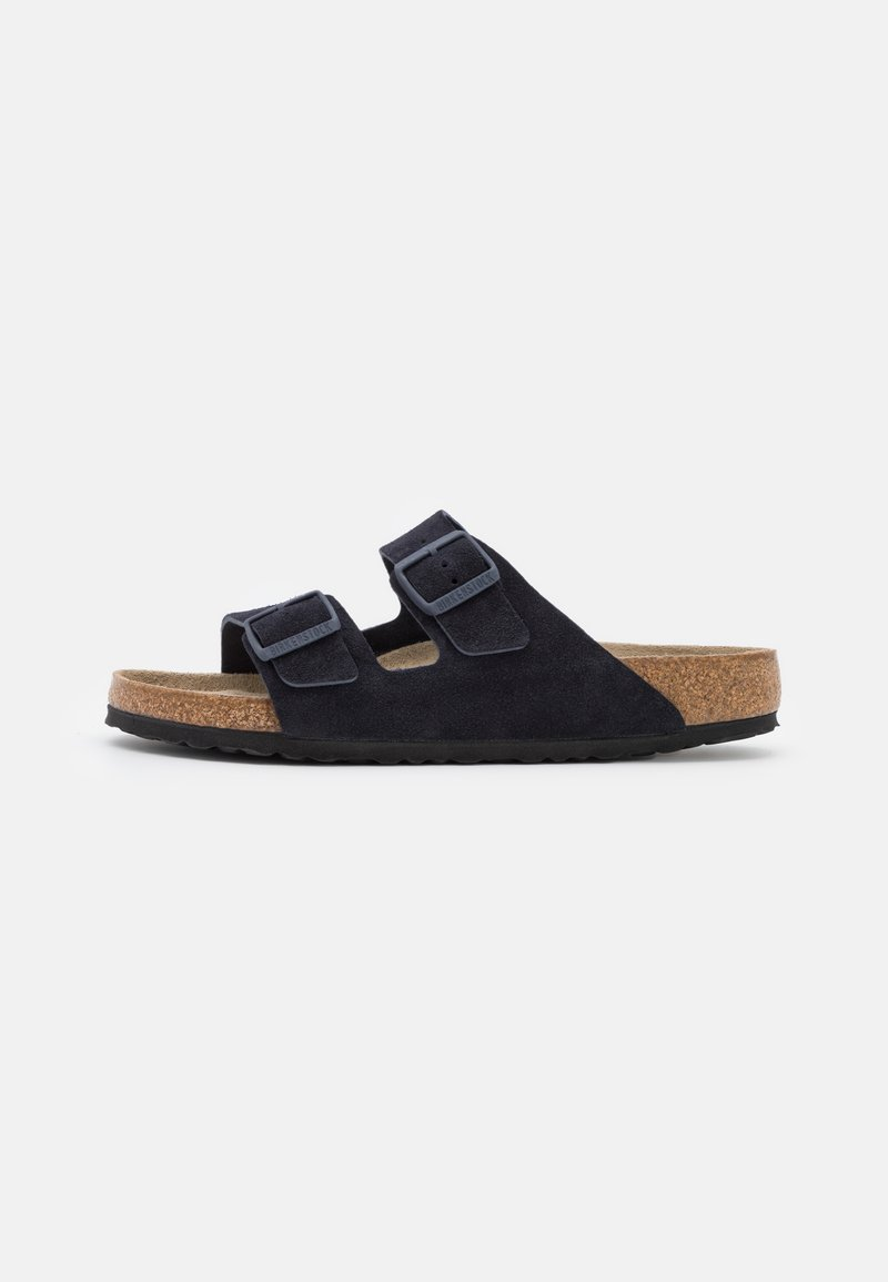 Birkenstock - ARIZONA SOFT FOOTBED UNISEX - Slippers - midnight