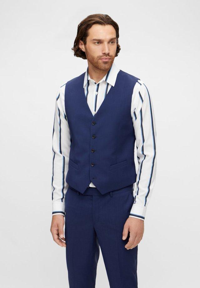 JUSTIN COMFORT WOOL - Waistcoat - mid blue