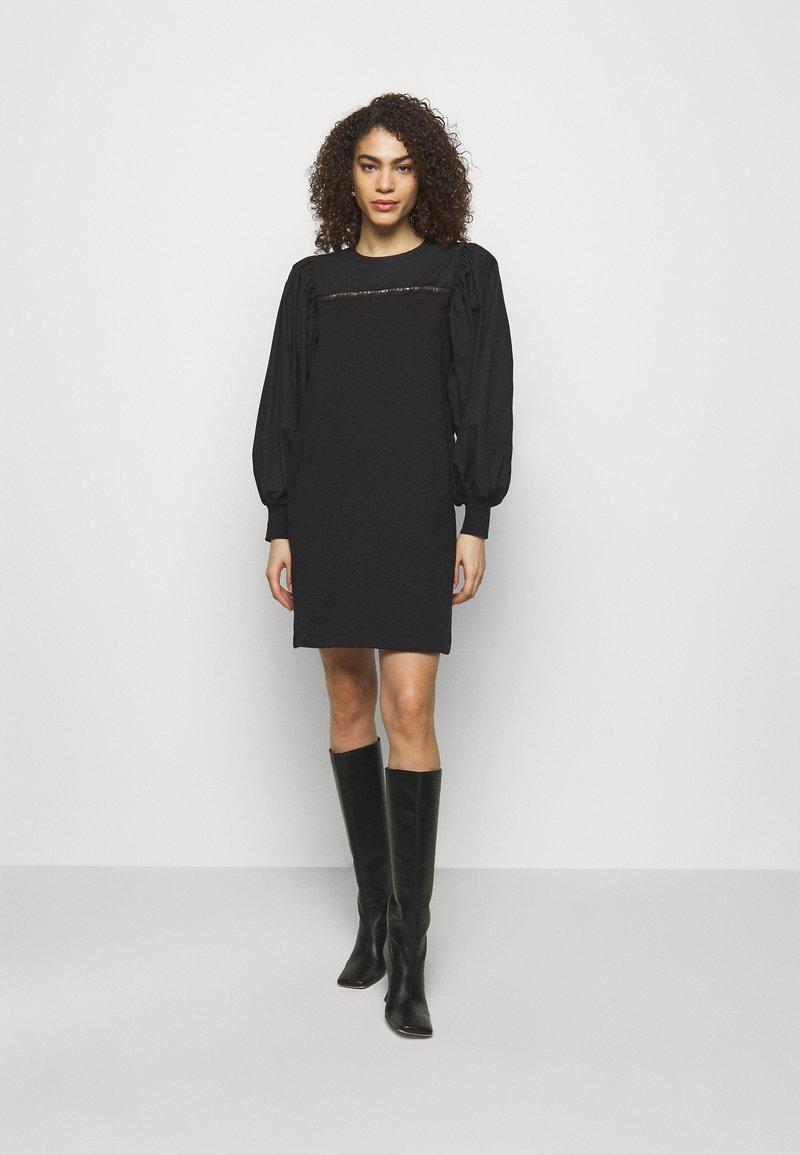 KARL LAGERFELD - MIX DRESS - Day dress - black