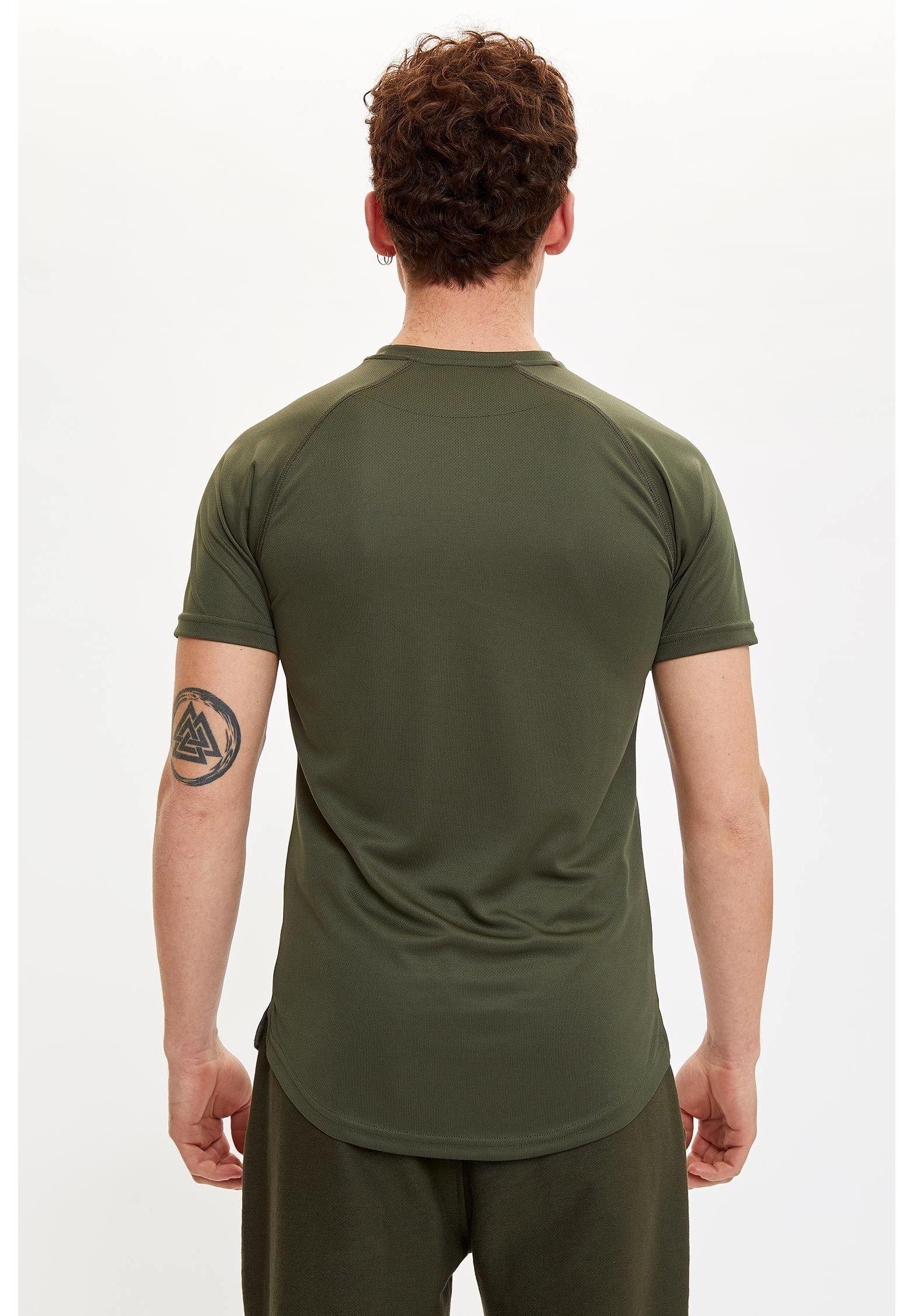 DeFacto Print T-shirt - khaki 7xwQB