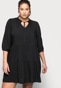 ONLY Carmakoma - CARNEWMARRAKESH 3/4 TUNIC DRESS - Day dress - black - 3