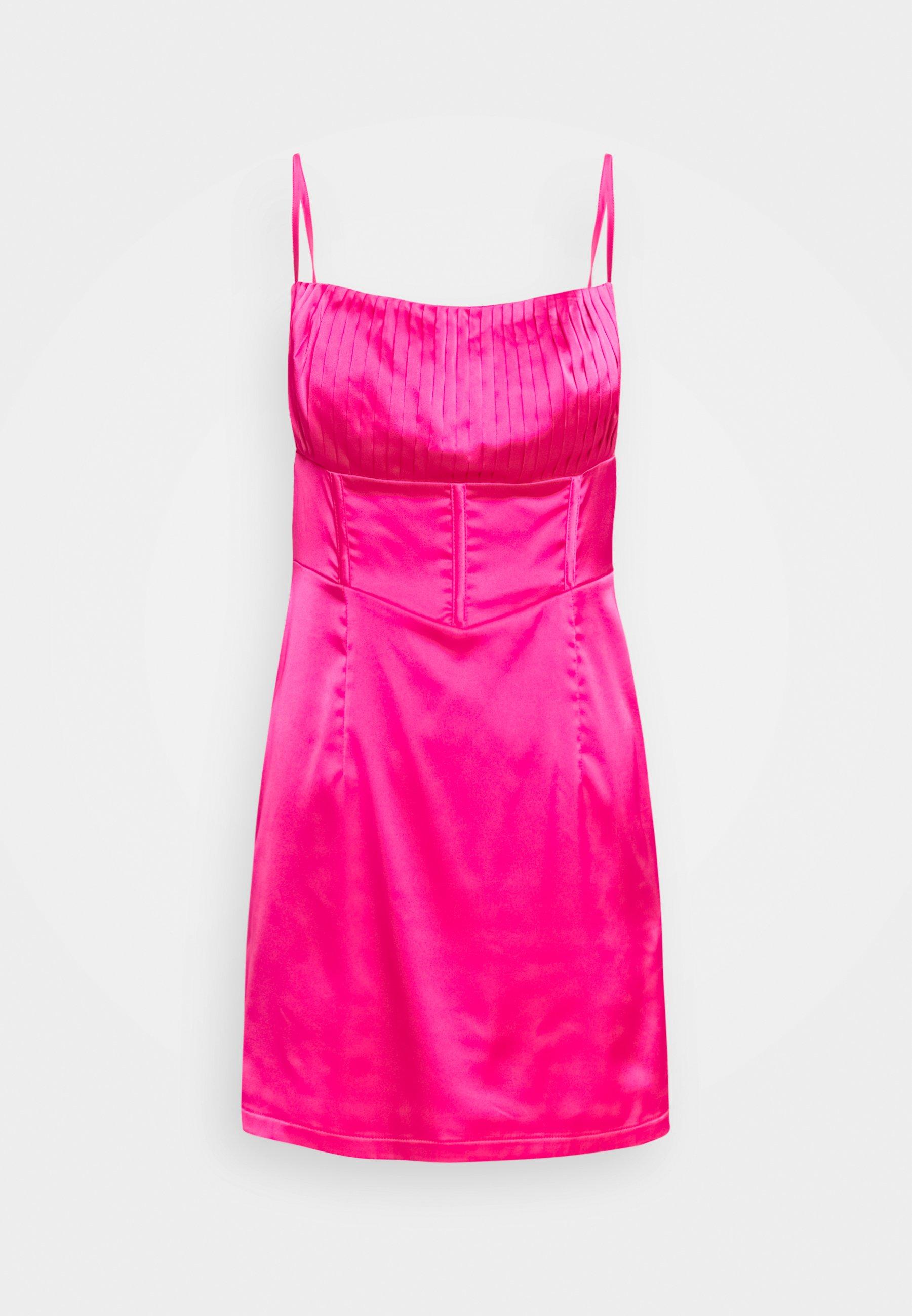 Femme PLEAT DETAIL STRAPPY BODYCON MINI DRESS - Robe de soirée