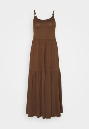 Jersey dress - dark brown
