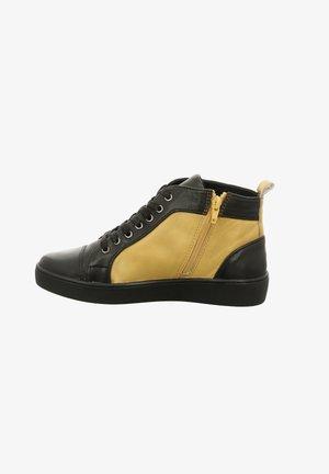 Sportieve veterschoenen - schwarz-gelb