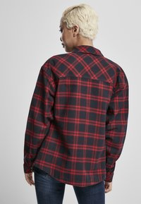 Urban Classics - OVERSIZED  - Button-down blouse - midnightnavy/red - 2