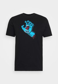 Santa Cruz - unisex Screaming hand - Print T-shirt - black - 3