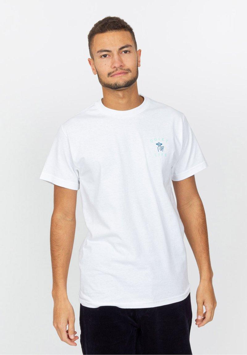 The quiet life - T-shirt imprimé - white
