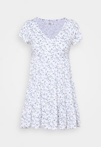Hollister Co. - DRESS - Jerseykjole - white - 4