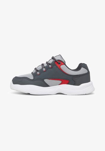 DECEL  - Trainers - white/grey/red