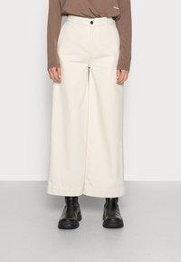 Ecoalf - PANTS WOMAN - Flared Jeans - natural - 0
