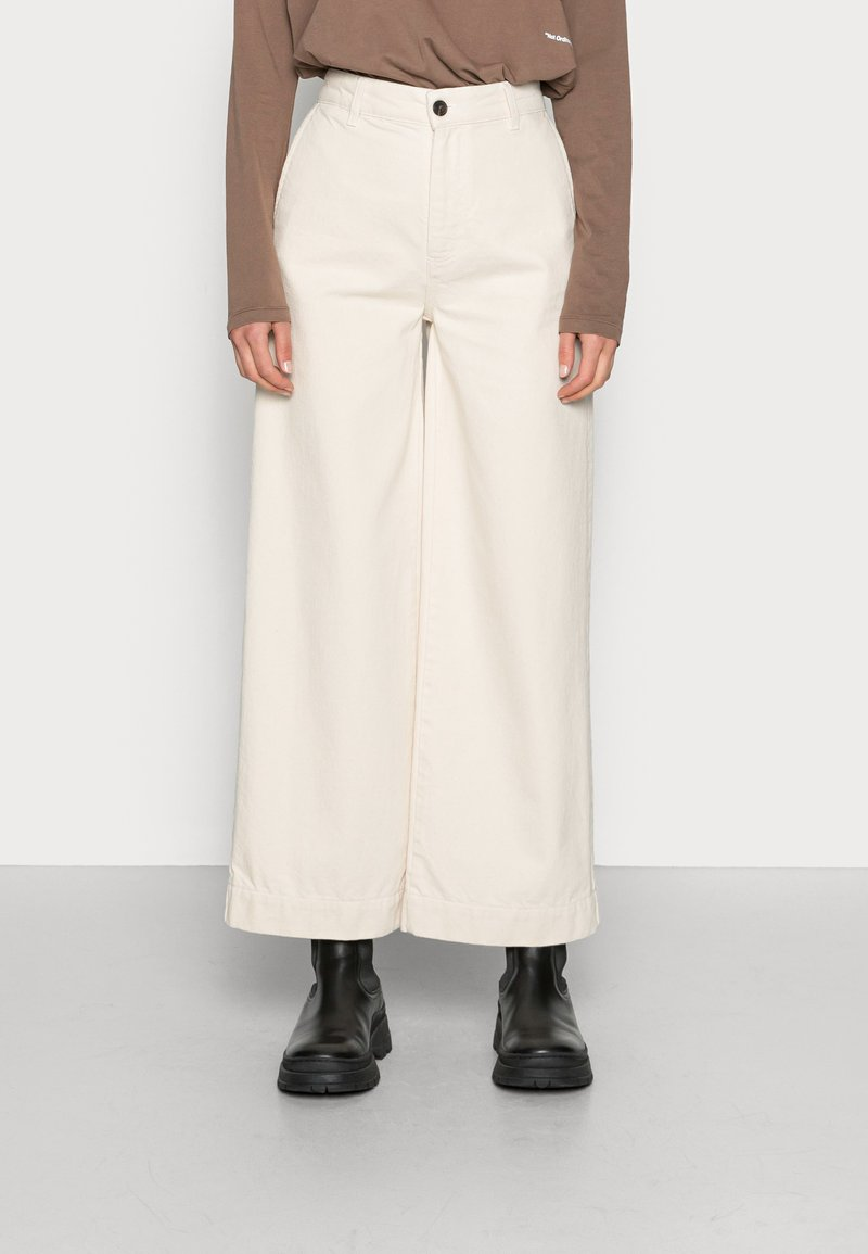 Ecoalf - PANTS WOMAN - Flared Jeans - natural