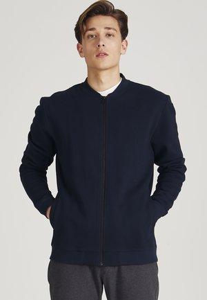 Zip-up sweatshirt - midnight blue (structure)