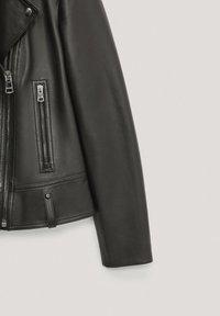 Massimo Dutti - Veste en cuir - black - 5