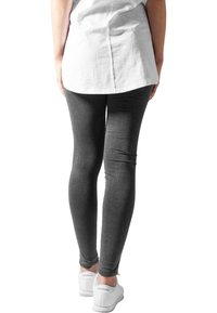 Urban Classics - CUTTED  - Leggingsit - acid black - 2