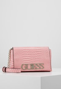 Guess - UPTOWN CHIC MINI XBODY FLAP - Across body bag - pink - 0