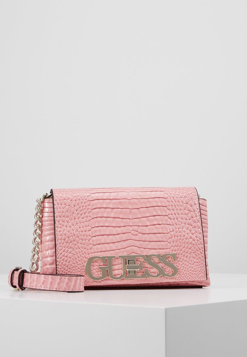 Guess - UPTOWN CHIC MINI XBODY FLAP - Across body bag - pink