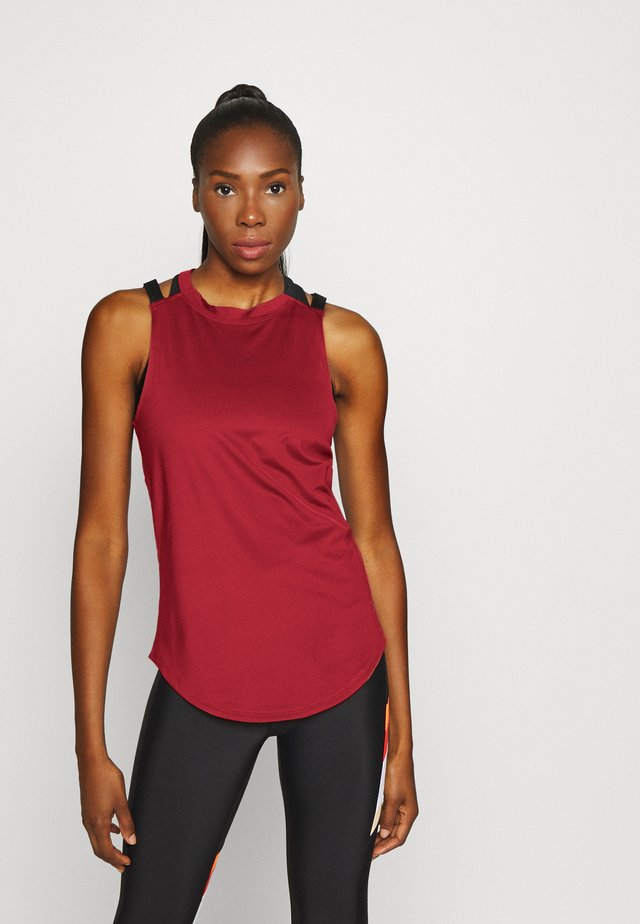 SPORT 2 STRAP TANK - T-shirt sportiva - cinna red