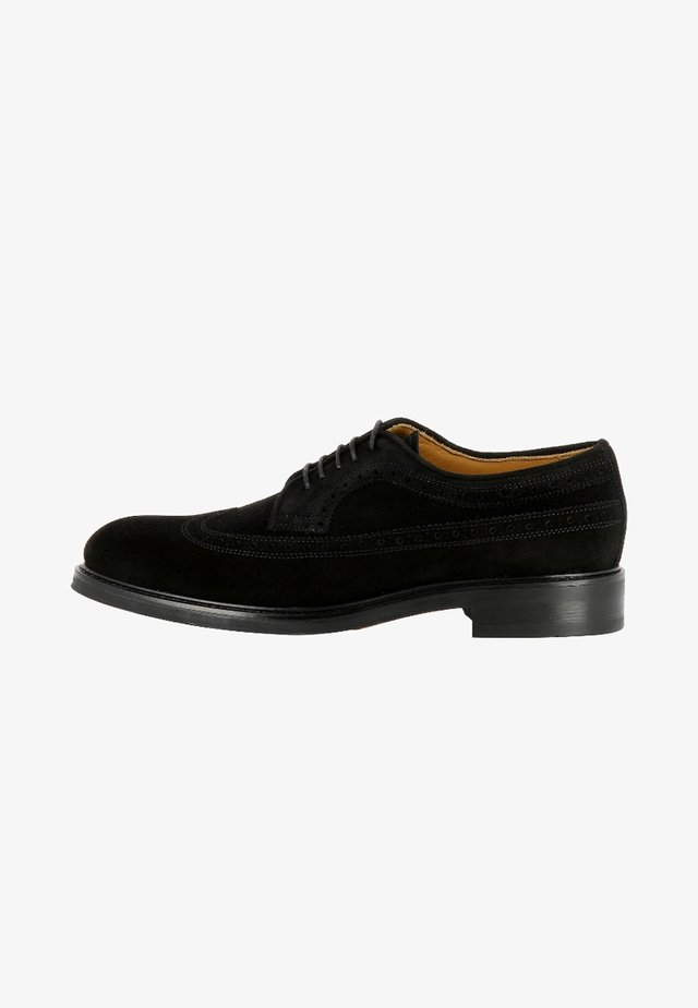 ADRIANO - Veterschoenen - black