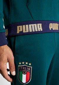 Puma - ITALIEN HOODY - Luvtröja - ponderosa pine/gold - 5