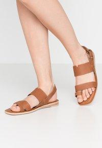 TOMS - FREYA - T-bar sandals - tan - 0