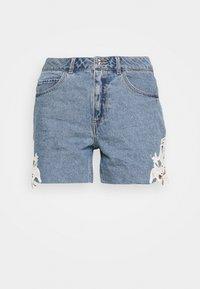 Vero Moda - VMNINETEEN CROCHET - Shorts di jeans - light blue denim - 3