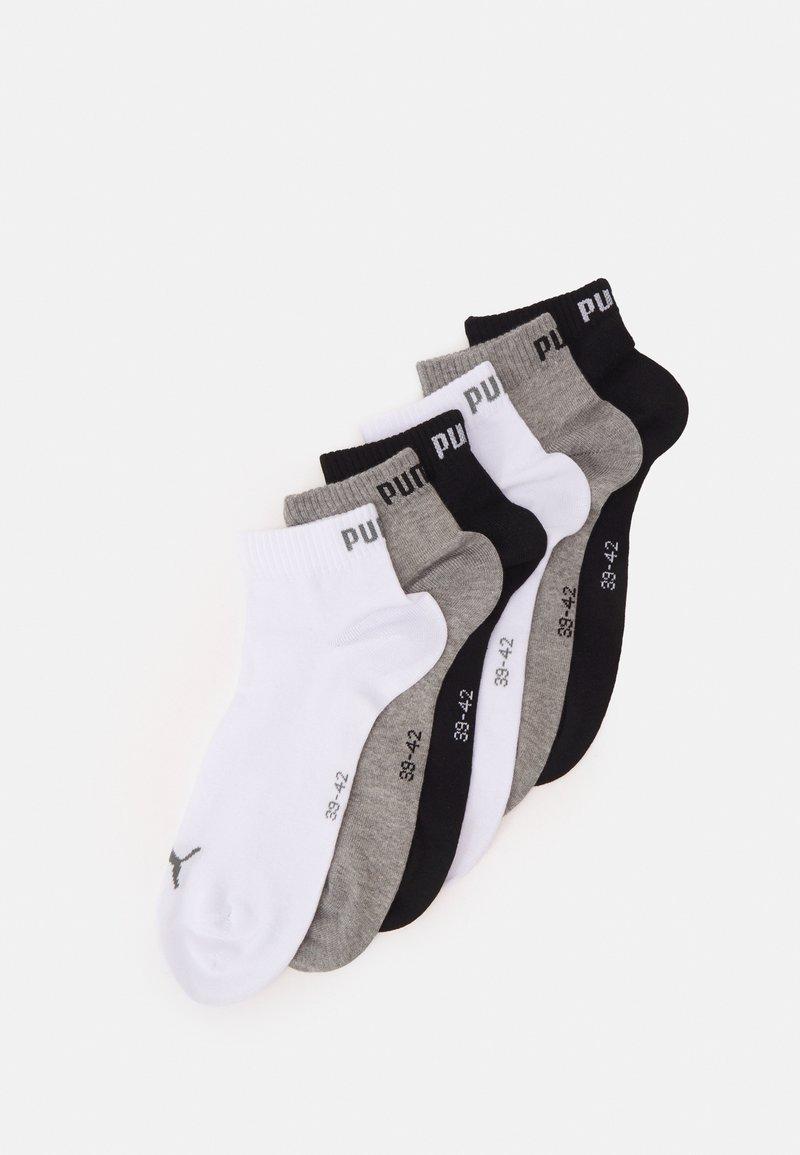 Puma - QUARTER PLAIN 6 PACK UNISEX - Calcetines de deporte - grey/white/black