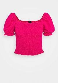 New Look - SHIRRED TOP - T-shirt bra - dark pink - 0