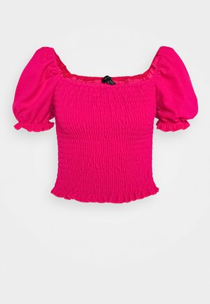 SHIRRED TOP - T-shirt bra - dark pink