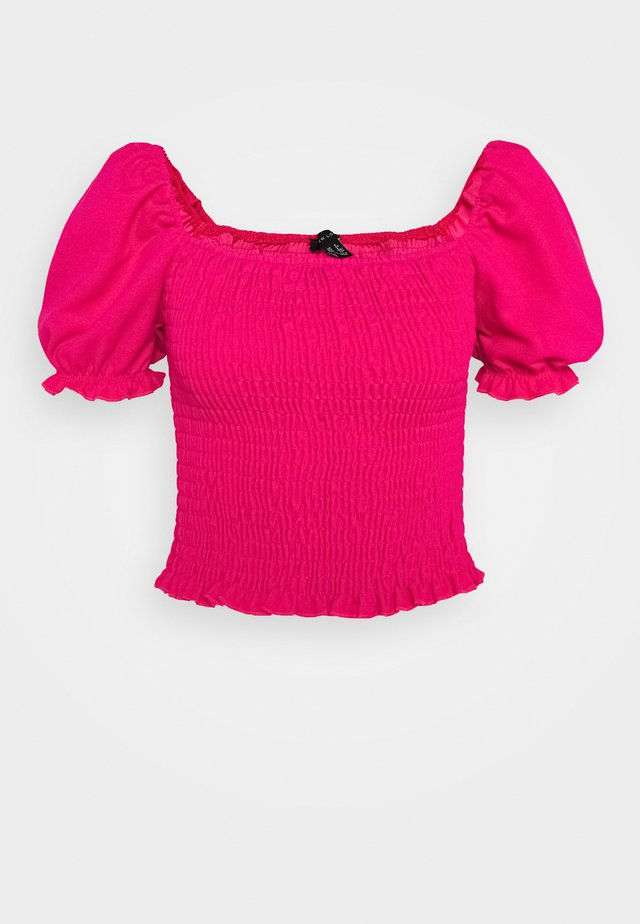 SHIRRED TOP - T-shirt BH - dark pink