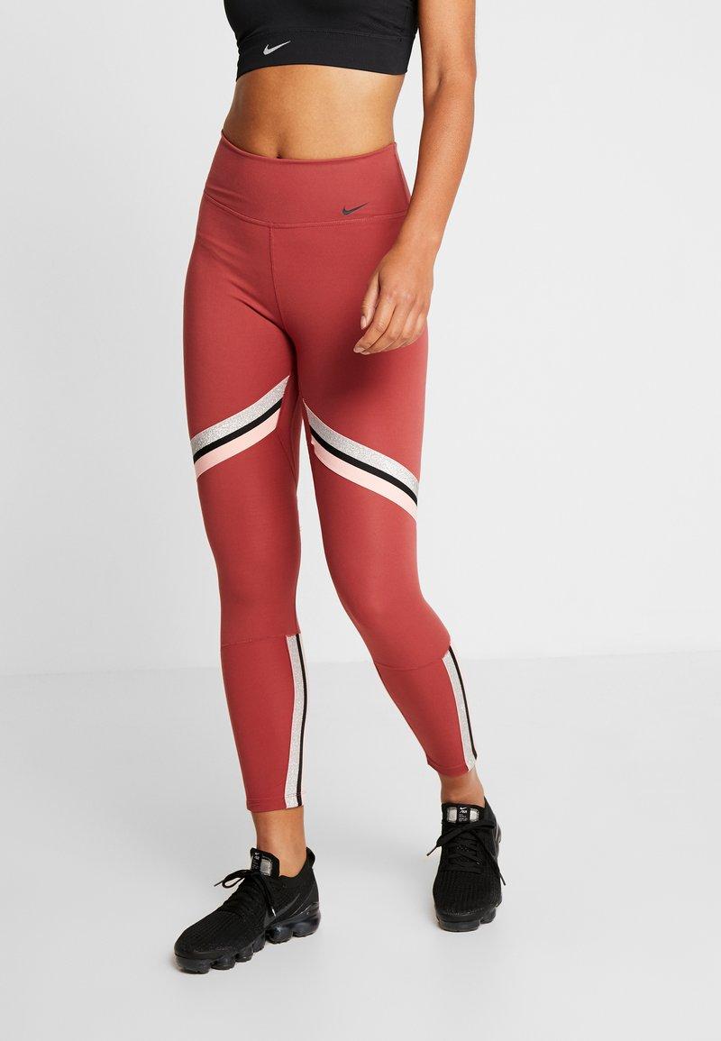 Nike Performance - ONE ICON - Leggings - cedar/metallic silver/black