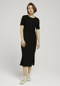TOM TAILOR DENIM - Jersey dress - deep black - 1