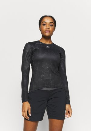 CREW NECK ZEROWEIGHT - Sports shirt - black