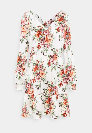 VIJOSE BLUME SHORT RUFFLE DRESS - Vapaa-ajan mekko - snow white