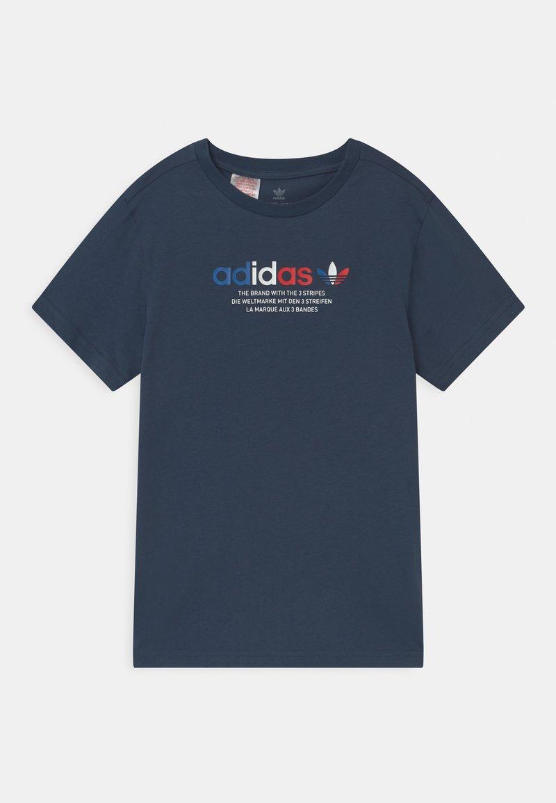 adidas Originals - TRI COLOUR LOGO UNISEX - Print T-shirt - crew navy