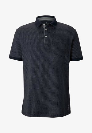 Polo shirt - navy blue wave design