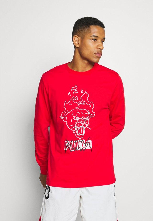 FRANCHISE STREET TEE - Bluzka z długim rękawem - high risk red