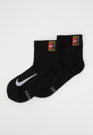 COURT MULTIPLIER MAX 2 PACK - Sports socks - black