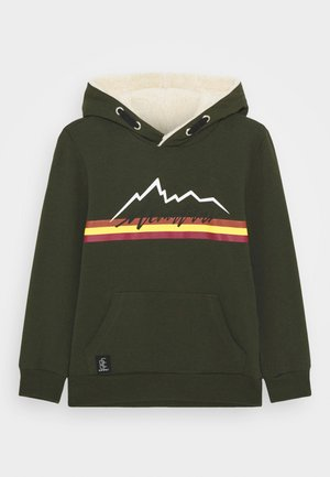 BOYS HOODIE MOUNTAINS - Kapuzenpullover - army green reactive